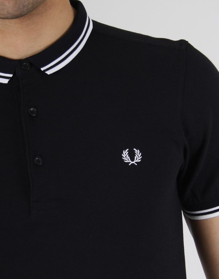 Fred Perry polo black white