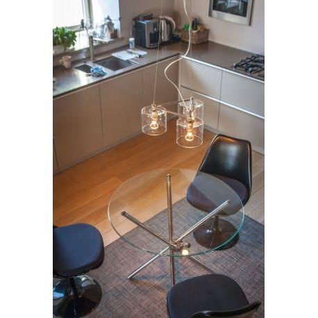 Stylowa lampa wisząca Luna, to model wykonany z połączenia szkła i metalu, doskonale sprawdzająca się w ekskluzywnej kawiarni, nowoczesnym salonie oraz stylowej restauracji. http://blowupdesign.pl/pl/oswietlenie-lampy-skandynawskie-loft-design/1520-lampa-wiszaca-luna-3-ciekawe-oswietlenie-nowoczesnego-salonu-kawiarni-restauracji.html #hanginglamps #lighting #restaurantlighting #kitchenlamps #livingroomlighting #lamps #lightingstore #modernlighting