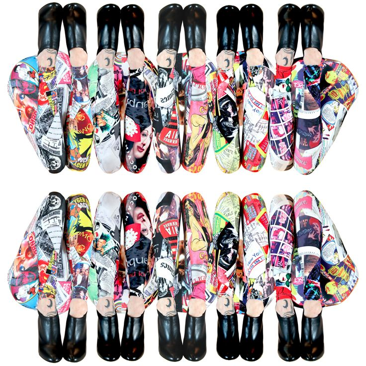 City Trash, Graphic leggings featuring collages of trash found in Paris, NYC, London, LA and Tokyo... Made in Canada by Some Product.