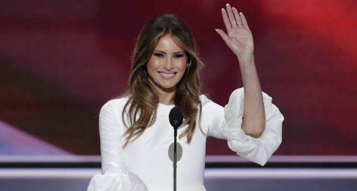 Melania Trump, en la convención republicana en Cleveland.