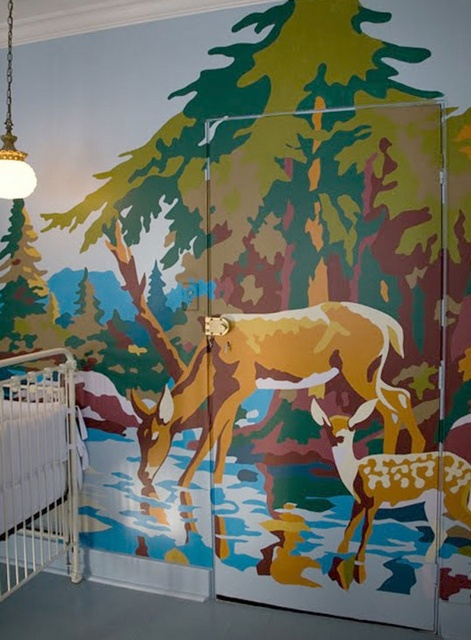diy . paint by numbers wall treatment this is a great idea for the south elementary room!