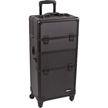 SUNRISE Makeup Case on Wheels 2 in 1 Professional Organizer I3461, 6 Trays, 4 Wheel Spinner,… Review
