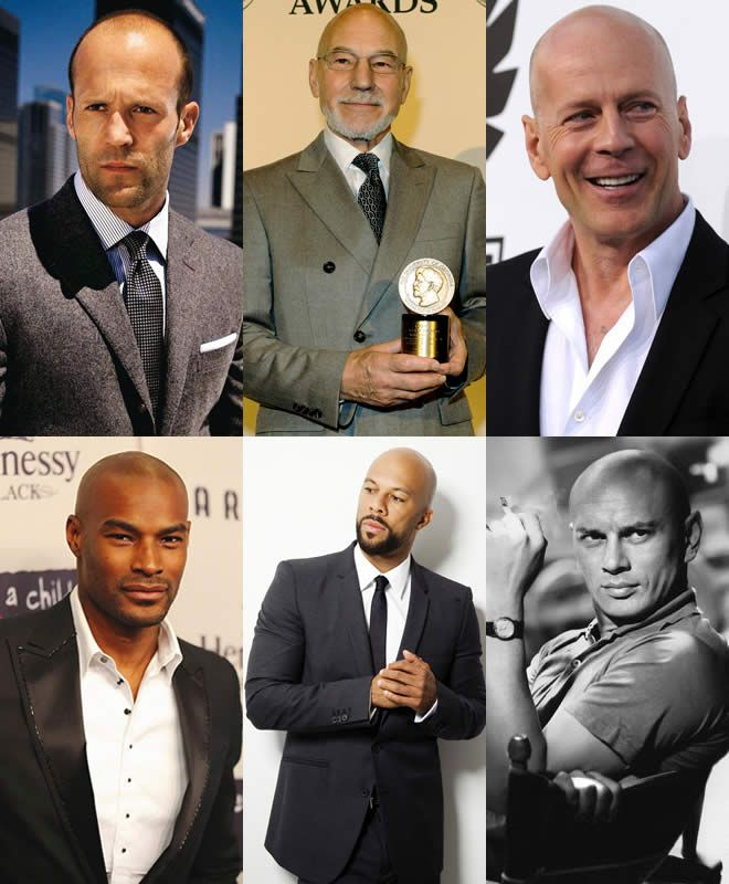 Some of our favorite #bald men in #Hollywood