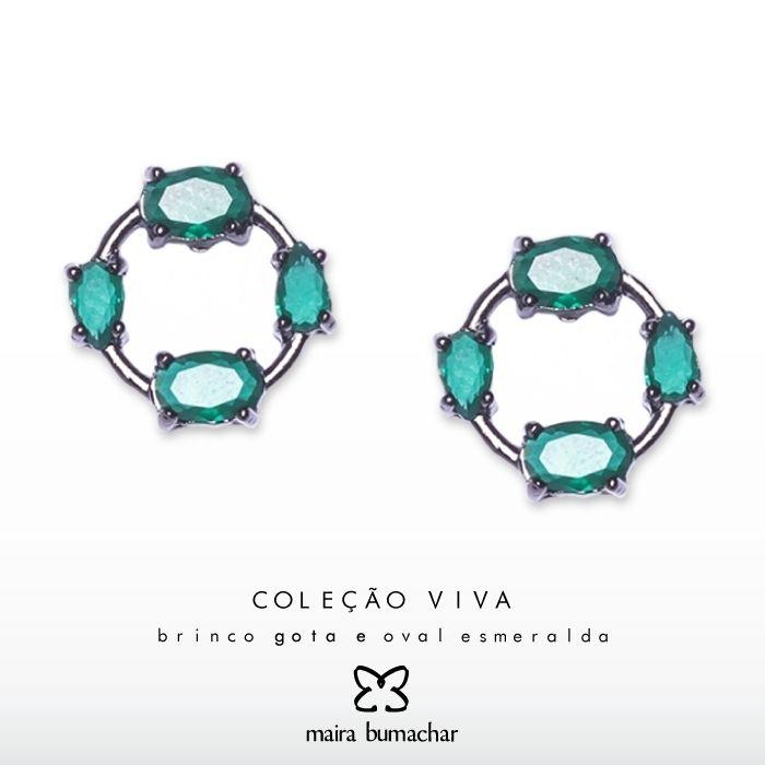 Perfeito para compor um look com cores leves! #Aposte #MairaBumachar  http://www.mairabumachar.com.br/brinco-gota-e-oval-esmeralda ou #pedidoswhatsapp (11) 99744-0079  #Sucesso #Look #Dica #VilaMadalena #Vix #SP #ZonaOeste #Love #Moda #Fashion #EuQuero #Tendencia