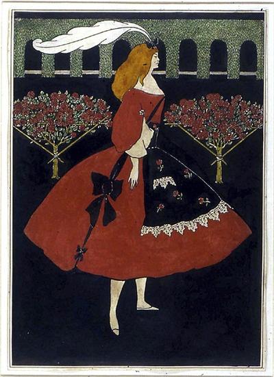 The Slippers of Cinderella (1894) by Aubrey Beardsley.  (via)