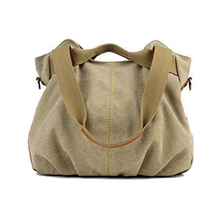 26075bd9f08d LOSMILE Women s Vintage Canvas Shoulder Bag Purse Top-Handle Hobo Tote  Handbags Crossbody Shopping Bags