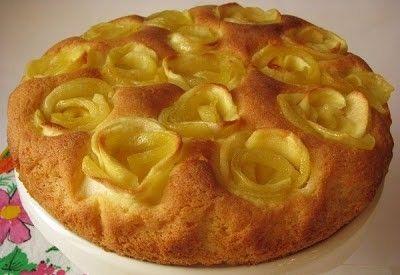 Torta di rose con mele