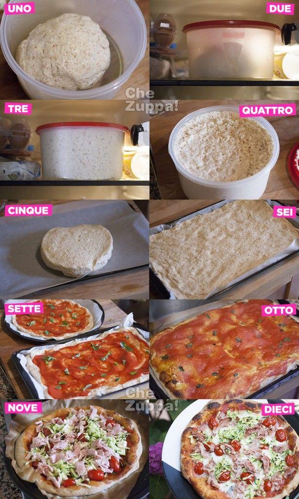 Come fare la #pizza a #lievitazione lenta http://www.chezuppa.com/recipe/come-fare-la-pizza-a-lievitazione-lenta/  #lievito #pizzalover #cucinaitaliana #ricette #recipes #italianfood #italianrecipes #forno  #chezuppa