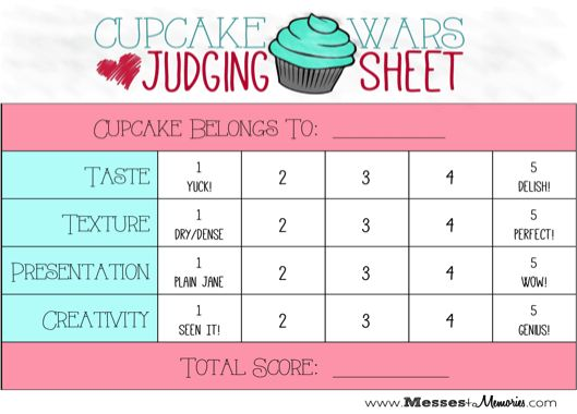 CUPCAKE WARS DATE NIGHT