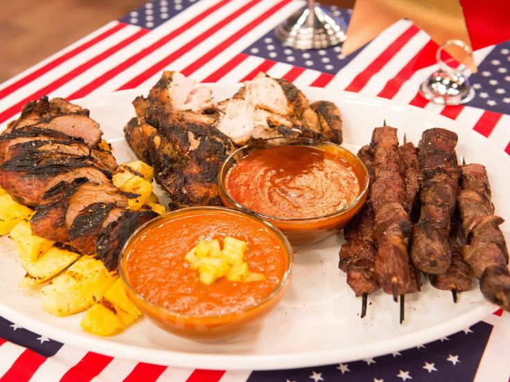 Grilled Meats and Sauces recipe from Stacey Poon-Kinney via Food Network