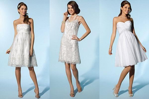 Купить свадебное платье короткое
