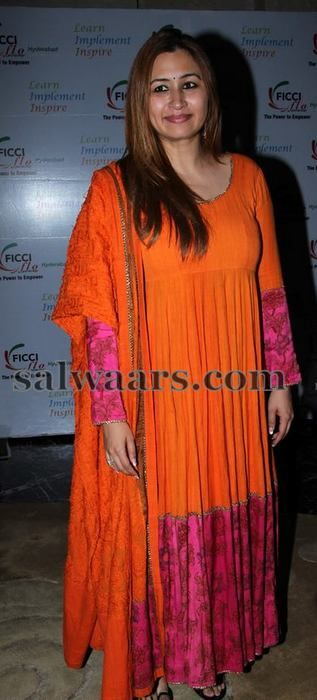 Jwala Gutta Orange Salwar