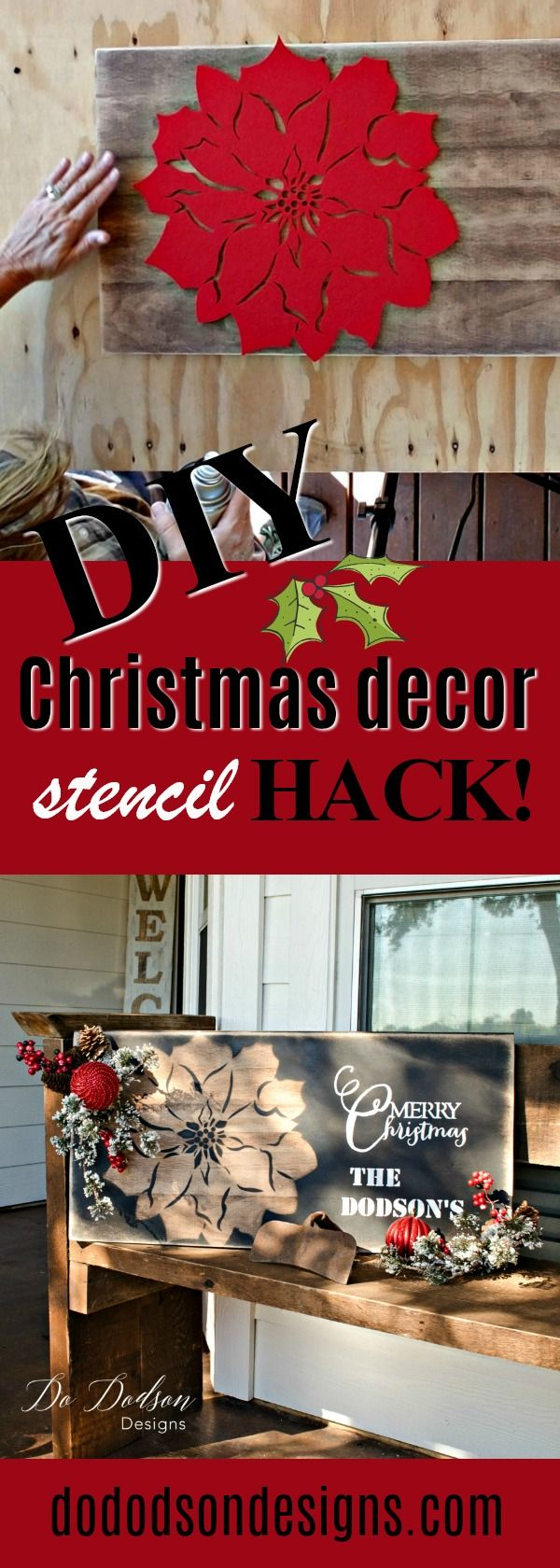 This is so much fun! Look at how I created this easy Christmas decor with a Dollar General felt placemat.
