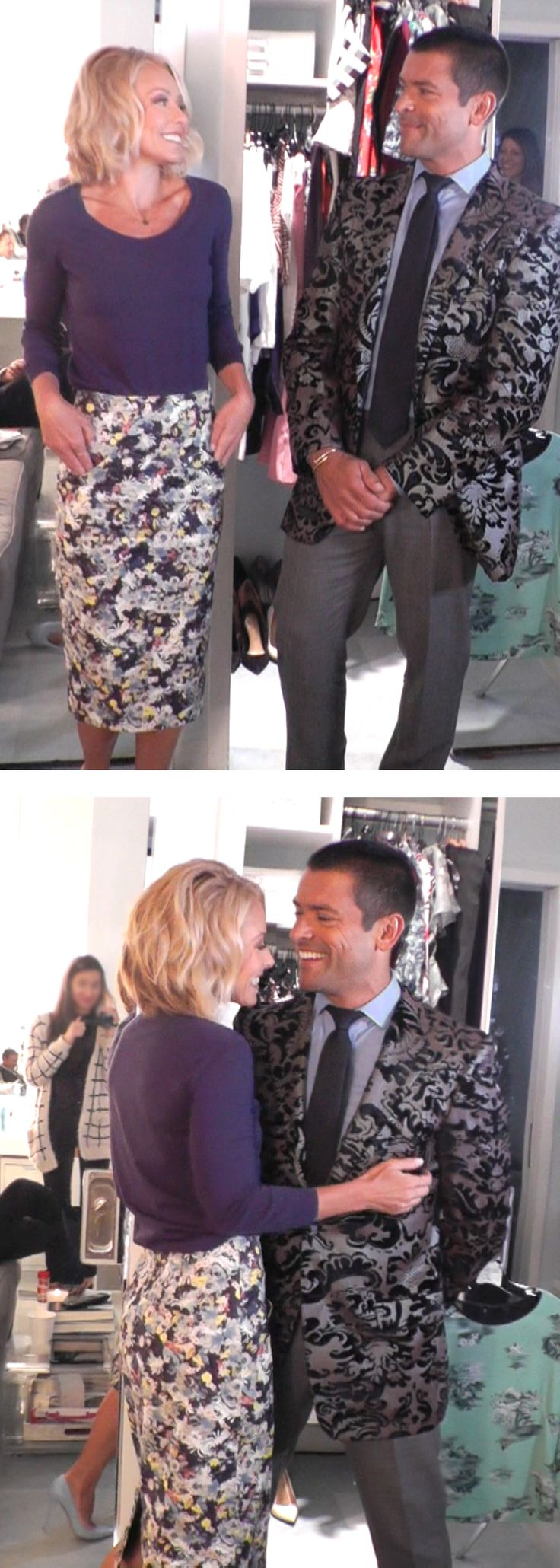 Canada Goose chateau parka sale official - Kelly Ripa in a Malo Top, Erdem skirt and Gianvito Rossi heels ...