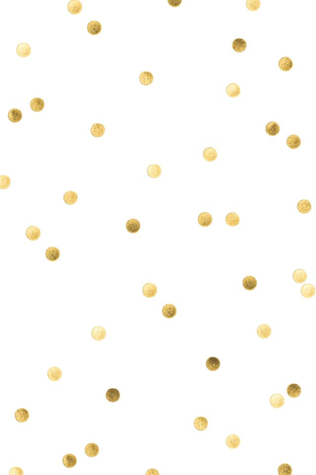 White gold confetti spots dots iphone wallpaper background phone lock screen