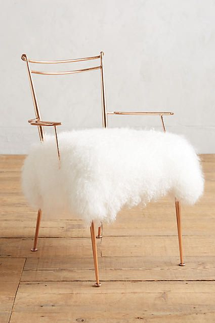 Anthropologie Shag Puff Dressing Chair #sale #anthroregistry