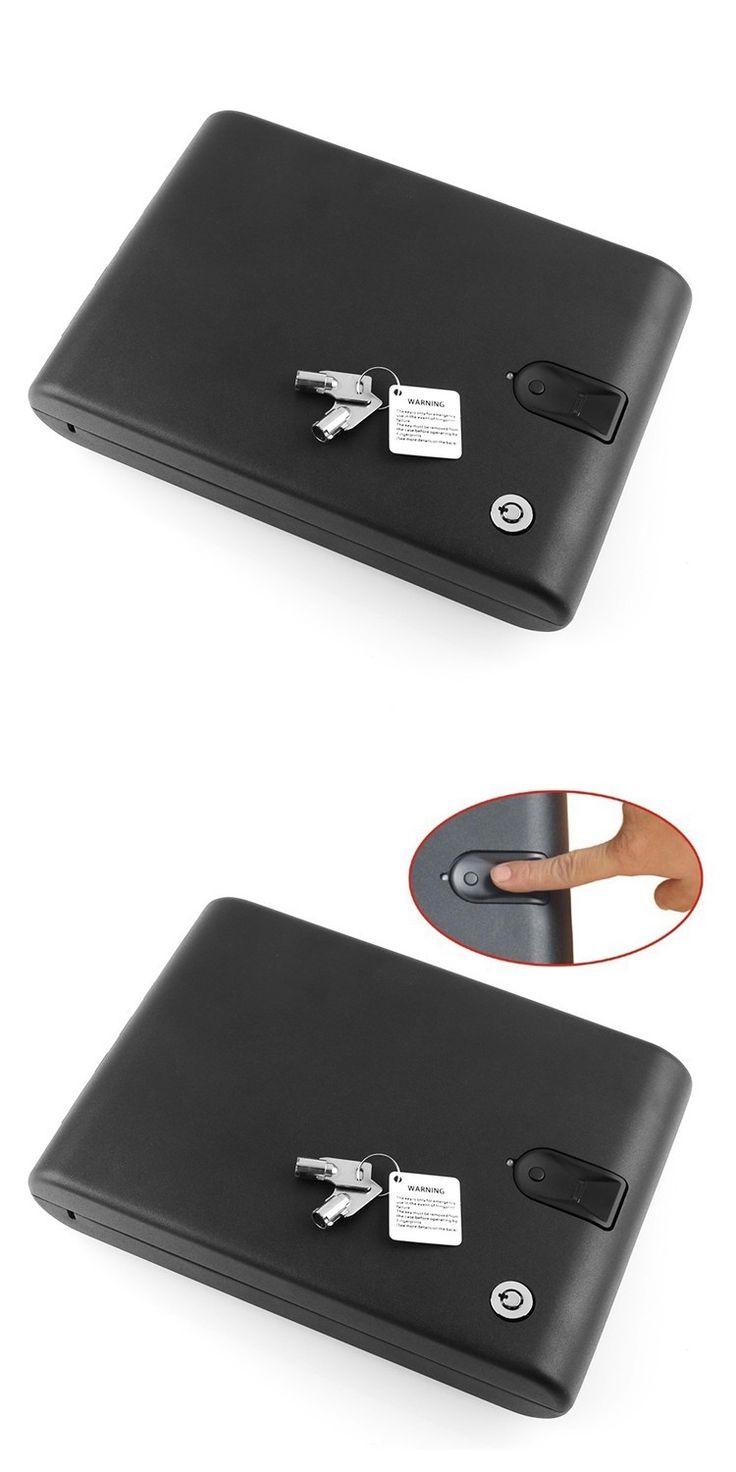 Biometric Fingerprint Safe Box Key Gun Vault Jewelry Box Cable Portable Bio-box Hot New Creative best gift