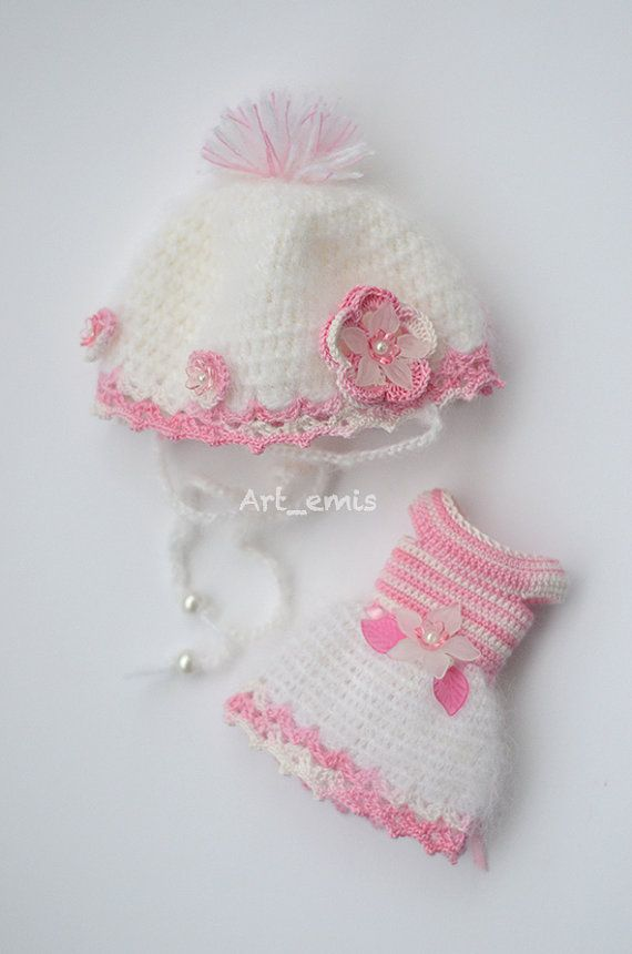 Crochet+set+for+Blythe+doll++White+and+Pink+by+ByArtemis+on+Etsy,+$39.00