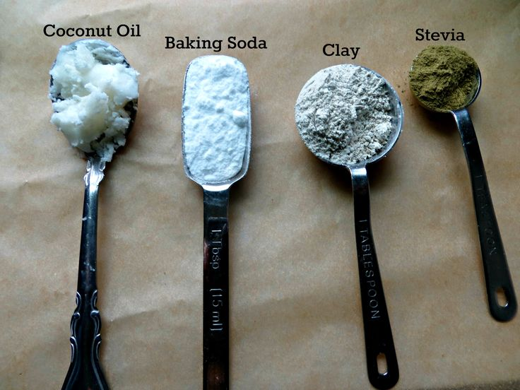 Ingredients - Coconut Oil Tooth Scrub // although I'd use sea salt in lieu of baking soda - at least for every other batch.