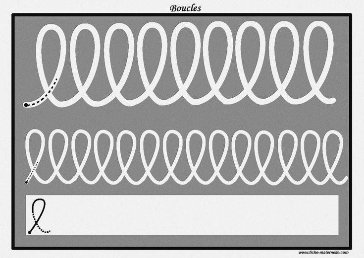 Des pistes graphiques à plastifier pour apprendre à écrire : les boucles