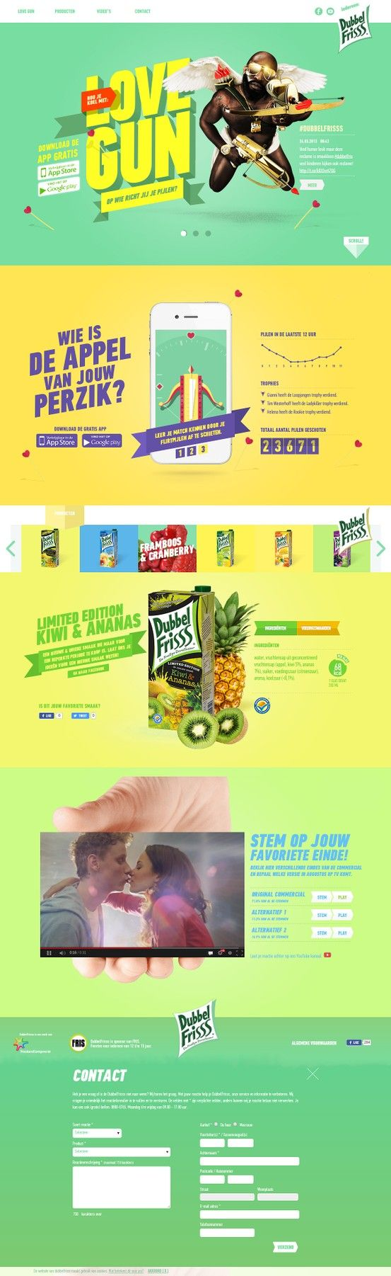 Dubbel Frisss colorful responsive web design