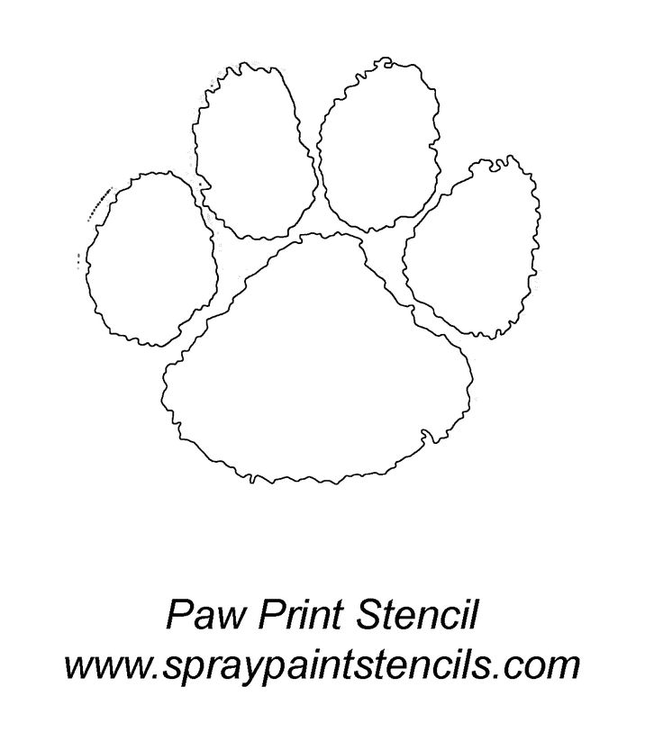 - Panther Paint Outline print Spray Stencil Paw  Stencils |