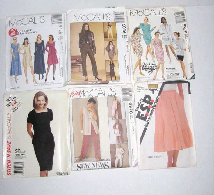 McCall's 6978 5879 3028 9456 Simplicity 5113 Stitch N Save 5169 Misses' Clothing…