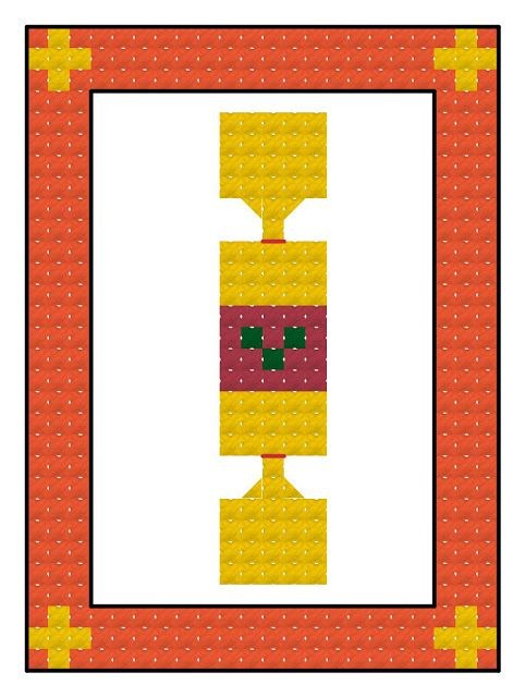 Free cross stitch advent calendar pattern, Christmas cracker