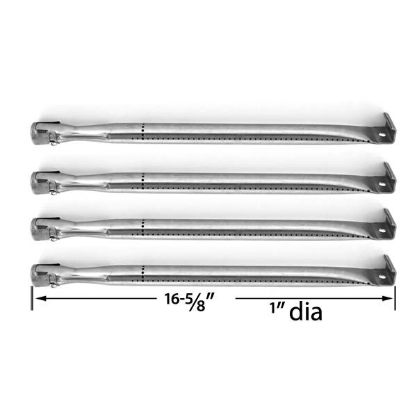 4 PACK REPLACEMENT STAINLESS STEEL BURNER FOR SHINERICH SRGG41009, TERA GEAR GSS3220A, UNIFLAME GBC1069WB-C, PRESIDENTS CHOICE 09011010PC, BBQTEK GSF2818K AND IGS-2504 GAS GRILL MODELS Fits Compatible Shinerich Models : SRGG41009 Read More @http://www.grillpartszone.com/shopexd.asp?id=34854&sid=32930