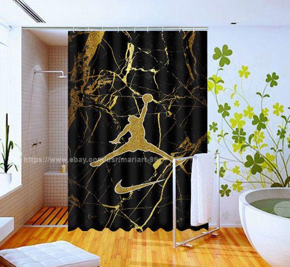 Michael Jordan Marble Gold Design Pattern Art Custom Design Shower