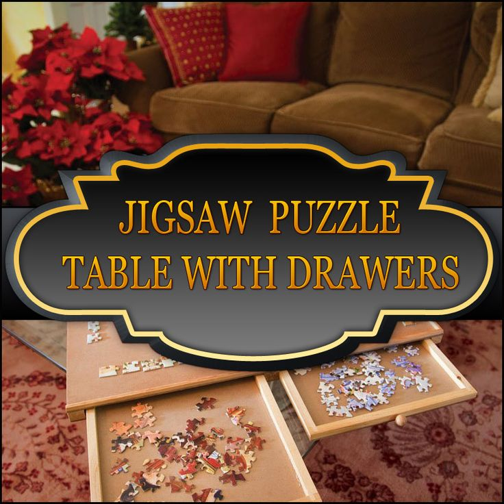 Best Jigsaw Puzzle Table With Drawers Helps To Stay