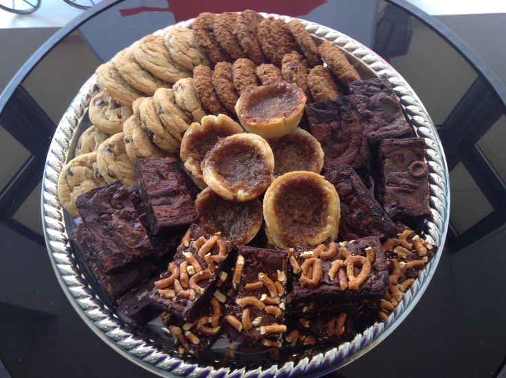 """Dessert Platter: """"Iron Men Platter""""  - Assorted Cookies - 3 types of brownies - Butter tarts"""
