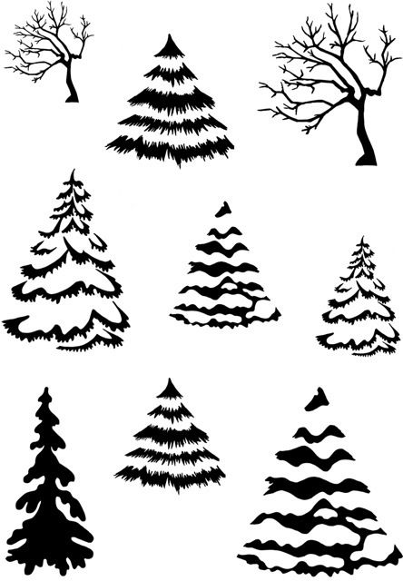Card-io Winter Woods Clear Stamp Set