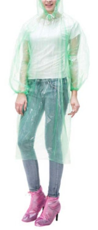 Men and women Rain Coats Disposable Rain Ponchos/Set Of 3