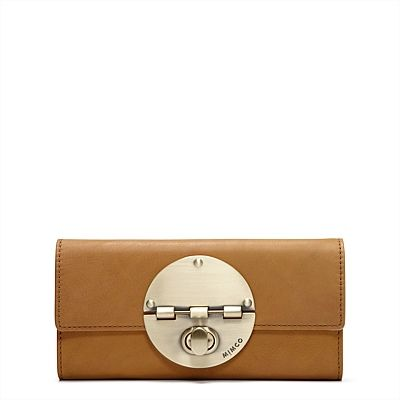 MIMCO LARGE TURNLOCK WALLET IN 'HONEY'