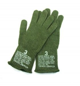Army Navy Surplus Product Review of GI WOOL INSERT O.D. GLOVES by Surplus Today Magazine.