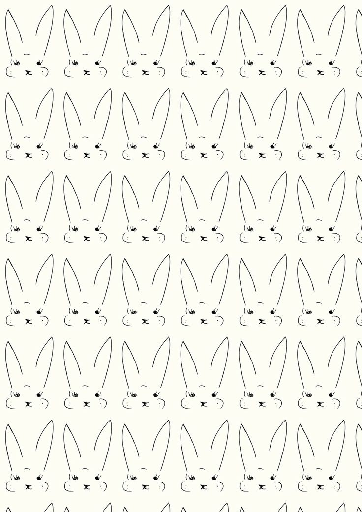 FREE printable cute bunny pattern paper