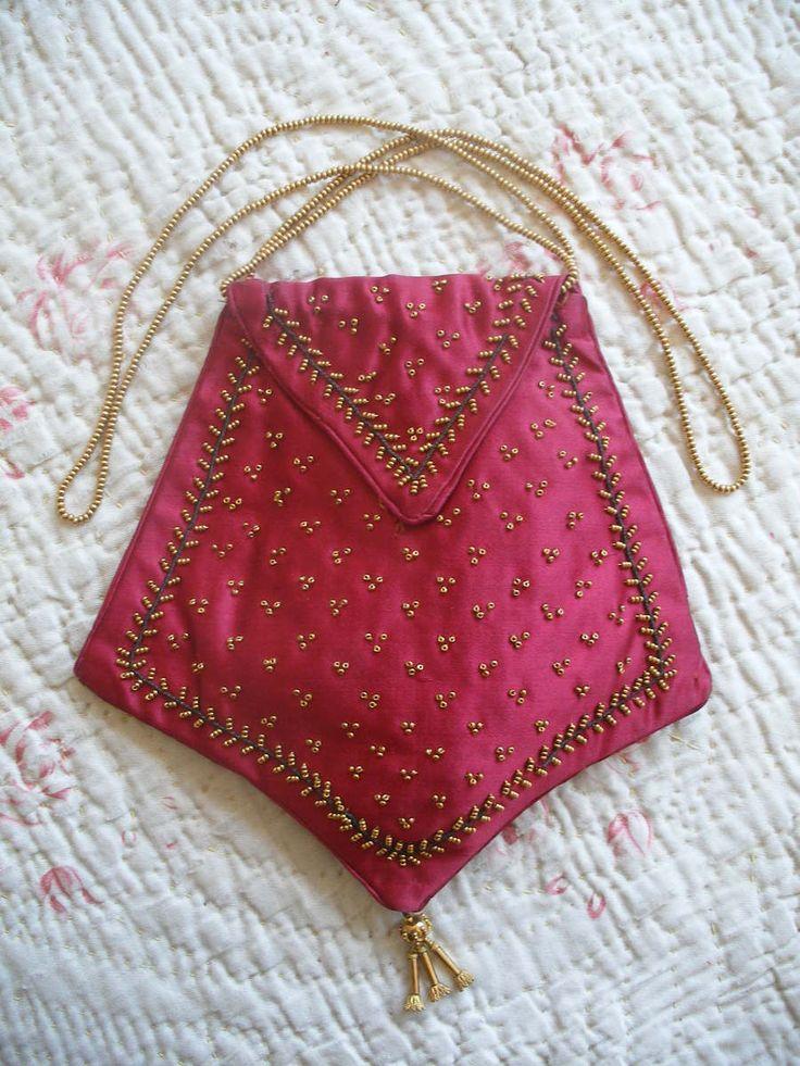 Original Regency beaded silk reticule purse c1800-1825, Georgian antique | eBay