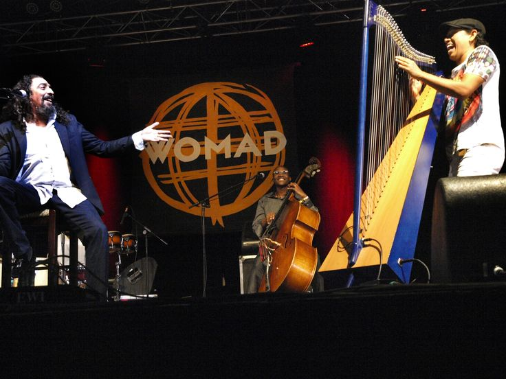 Deigo El Cigala collaborates with Edmar Castaneda Trio. Spain meets Latin America with the blending of these two greats.   Photo credit Rehia Library.   #WOMADnz #Latin #Flaminco #Tango #CubanRhythms #Spanish #Jazz #Colaboration