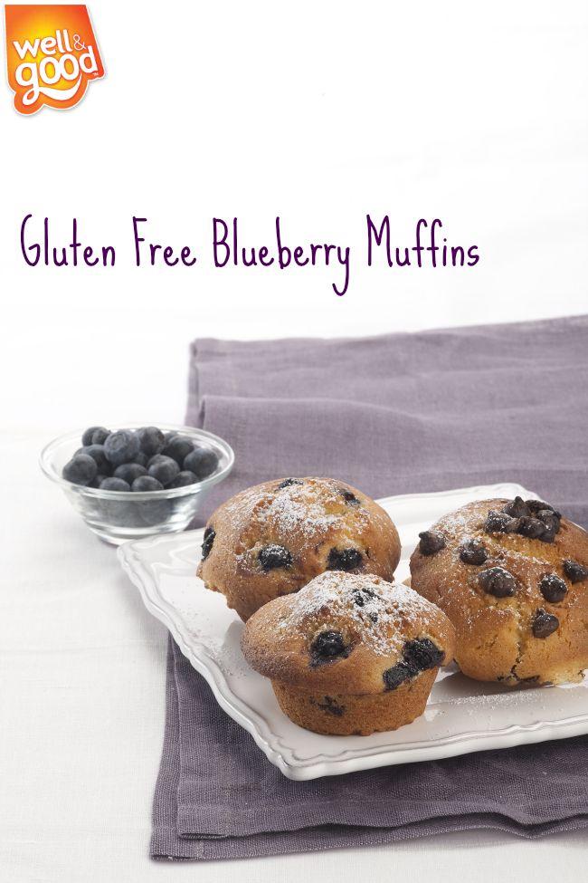 Gluten Free Blueberry Muffins using Well & Good Muffin Mix www.buyglutenfreedirect.com.au