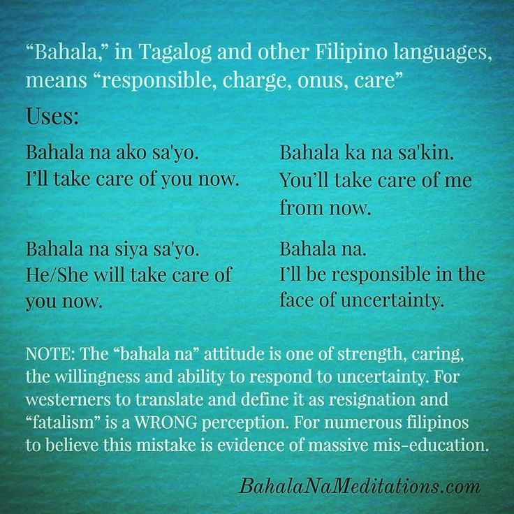331 best bahala na meanings meditations images on pinterest bahala in tagalog and other filipino languages means responsible charge onus malvernweather