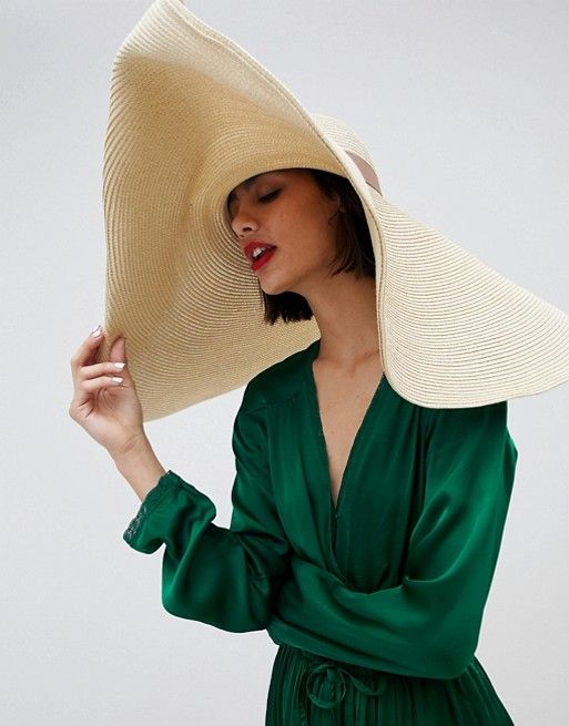02acd77348621e DESIGN oversize turn back brim straw hat in 2019 | My 2019 Trends ...