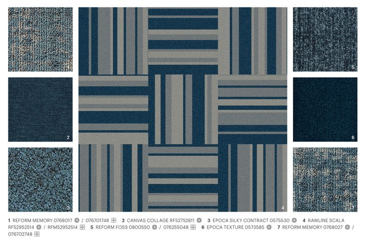 Rawline Scala blue hues mixed and matched with other ege carpet designs #mixandmatch #blue