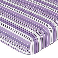 image of Sweet Jojo Designs Kaylee Fitted Crib Sheet in Stripe Print