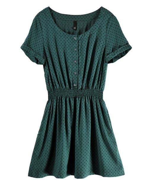 $28.80Green Round, Neck Shorts, Polka Dots Dresses, Dresses Style, Dresses 29, Round Neck, Neck Green, Sleeve Polka, Shorts Sleeve