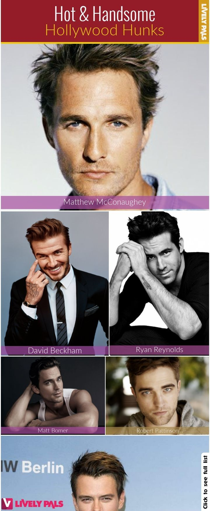 31 Hollywood Handsome Hunks Celebrities Hot Livelypals Handsome Matthew Mcconaughey Hollywood