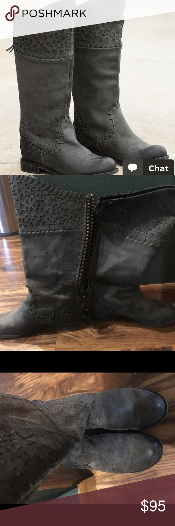 Selling this Grey corral boots on Poshmark! My username is: heatstomberg. #shopmycloset #poshmark #fashion #shopping #style #forsale #corral #Shoes