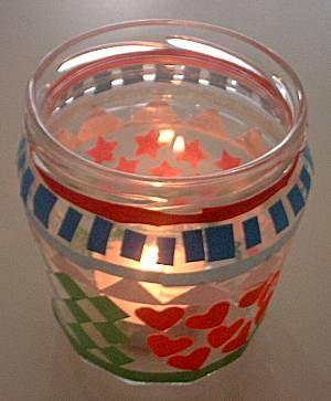 Waxine lichtjes van een potje