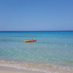 Falassarna - beach. A canoe ready to go confront the waves #trivo