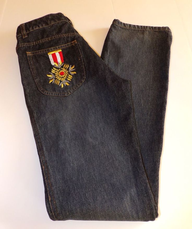 RARE Morgan de Toi Beaded Denim Blue Jeans Morgan Paris France | eBay